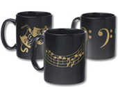 Black and Gold Coffee Mugs